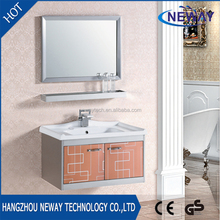 Wholesale stainless steel bathroom ceramic wash basin with mirror