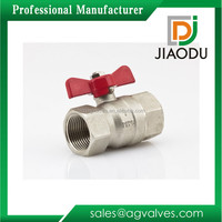 Wholesale custom-made 1 2 0.5 1/2 1/8 inch npt threaded red T- handle of nickel plated copper laiton and brass ball valve buyer