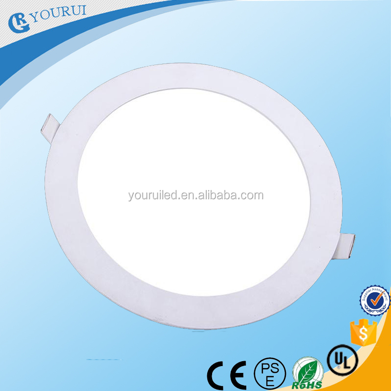 3w 6w 9w 12w 15w 18w ultra thin LED panel light round recessed LED ceiling panel lighting