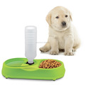 Dog Plastic Pet Feeder Dish Dog Cat Automatic Food Bowl
