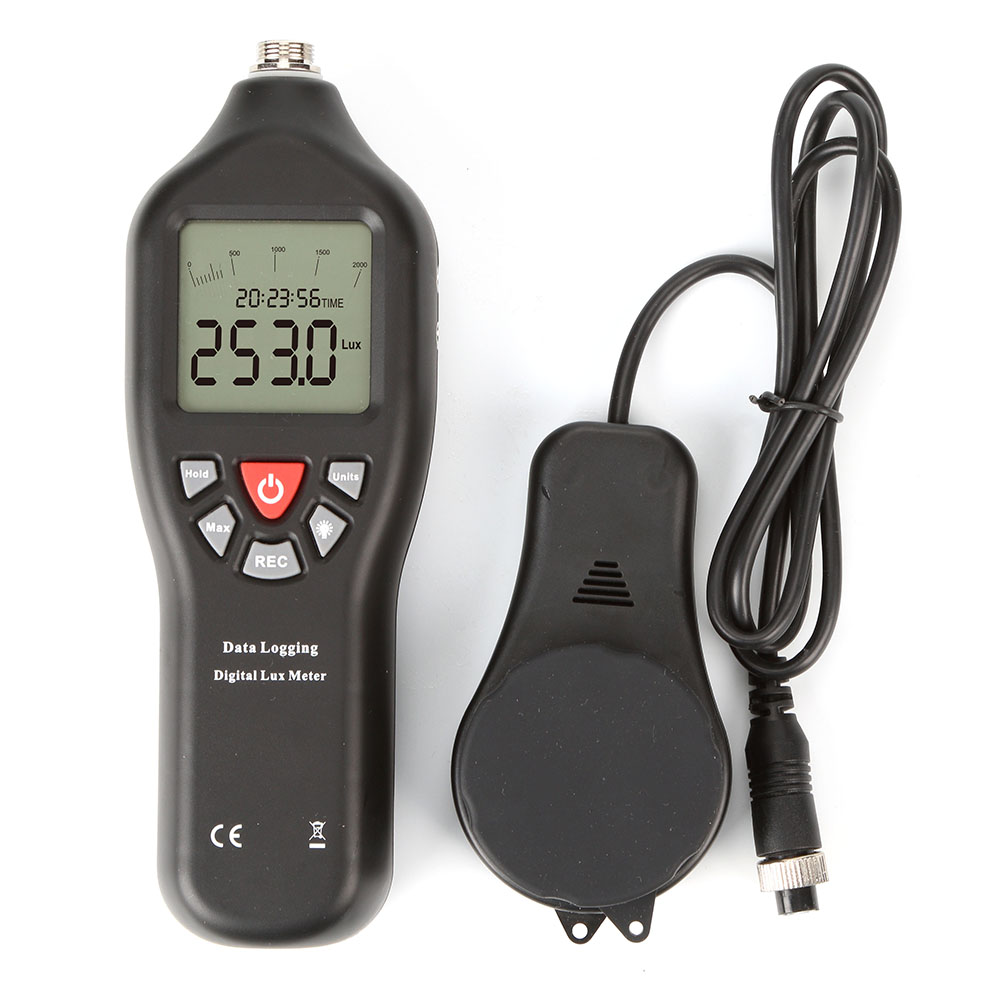 2018 high quality USB digital lux meter <strong>0</strong> to 200,000 LUX with datalogger for LED light meter TL-600