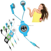 Retractable Ear Buds/Auto Recoil Earbuds
