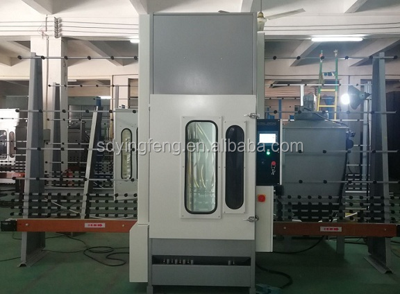 JFP2000 used automatic glass sandblasting equipment for sale with 4 guns with air pressure