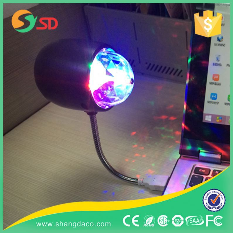 Stage/Party/Disco Lighting Bluetooth Speaker/USB Colorful LED Crystal Magic Ball lamp usb
