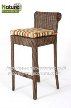 tf0813 outdoor rattan bar stool buy outdoor resin bar stools rattan weave bar stool wicker bar. Black Bedroom Furniture Sets. Home Design Ideas