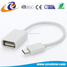 Adapter cable micro usb male to usb female otg cable.