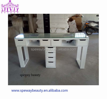 2019 double nail table/nail dryer station/portable manicure table nail station