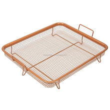 2 Piece Stainless Steel Crispy Tray Copper Fry Basket