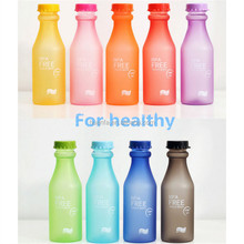 550ml private label colorful frosted Leak - proof plastic water bottle in bulk