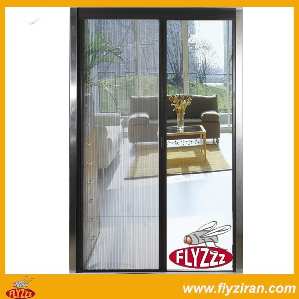Pleated insect screen door