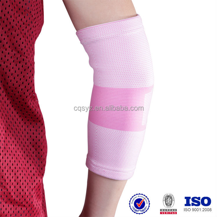 Female Four Sides Stretching Elbow Brace Elastic Elbow support Knitted Elbow protector China customed spandex arm sleeve