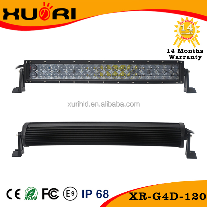 Auto Parts 120w 180w 240w 288w 300w double row curved 4d led light bar optics led light bar off road 22inch led spotlight