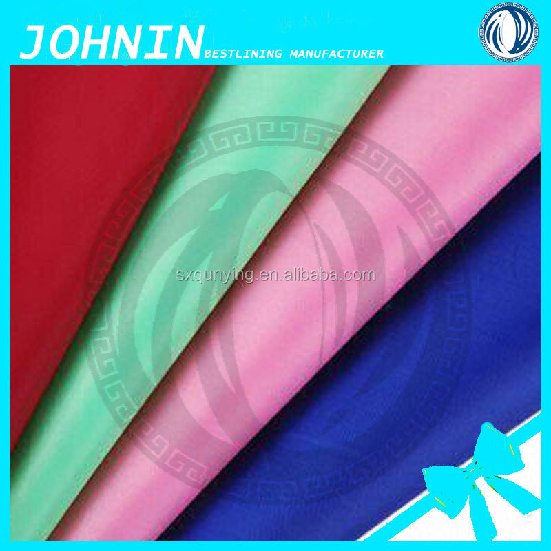 cheap 100% poly taffeta 190T fabric for garment lining of China supplier