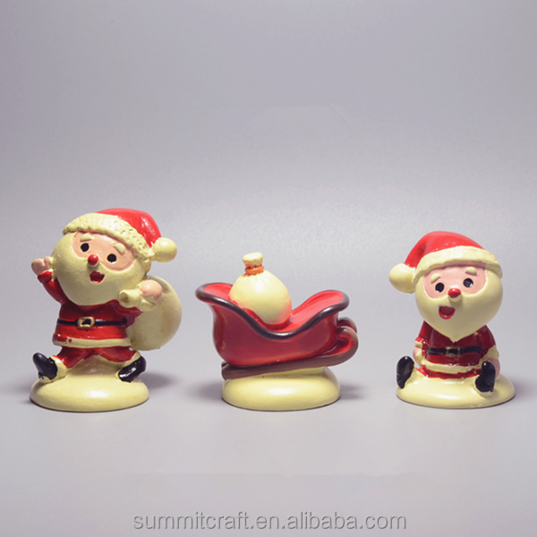 Wholesale mini santa claus polyresin personalized christmas ornaments
