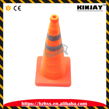 Traffic Safety Road Cone Retractable 50cm Bottom PE Material Oxford Fabric Foldable Traffic Cone