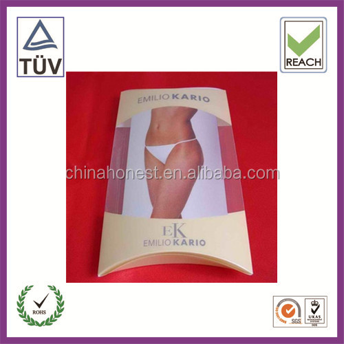 OEM Folding pillow Plastic Underwear Packaging Boxes