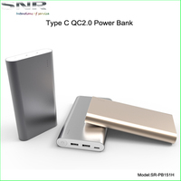 top quality mini 5v 3a type c power bank real 18650 battery power station best qc2.0 rechargeable battery for gift