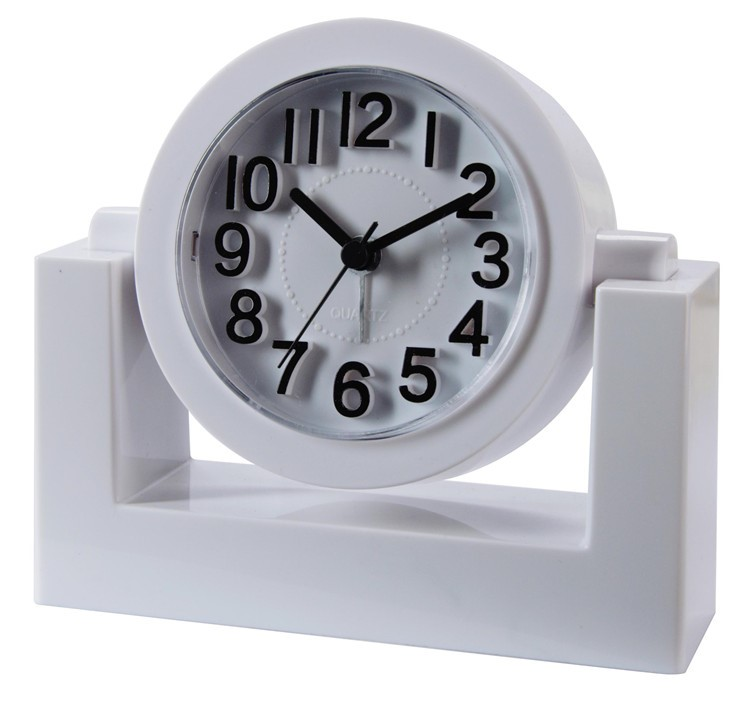 3D numbers letters scale octagonal rotary desk alarm clock
