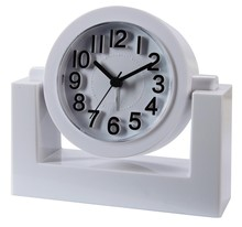 3D numbers letters scale round rotary desk alarm clock