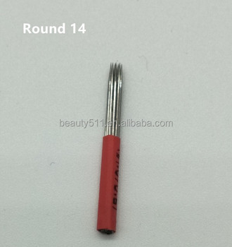 Wholesale High quality Disposable Professional Manua eyebrow Tattoo microblading needle Tattoo tools R14