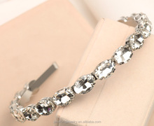 Blingbling Crystal Headband Oval Crystal Stone <strong>Hair</strong> Band Wholesale Crystal <strong>Hair</strong> <strong>Accessories</strong>