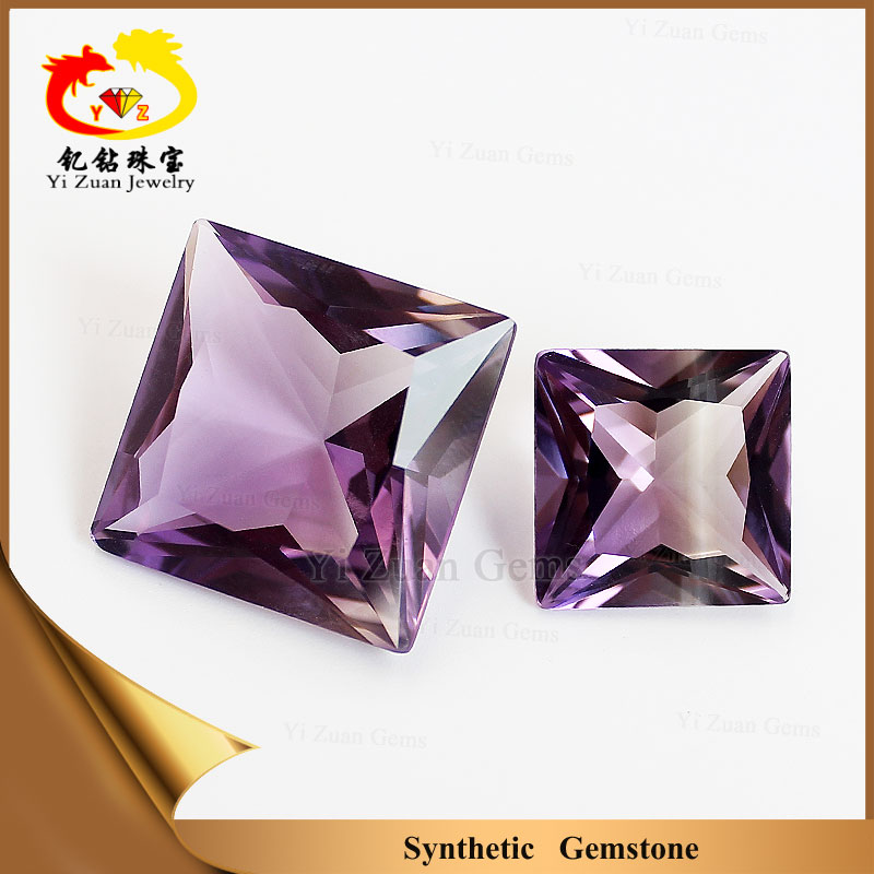 kingly amethyst square princess cutting quartz piezoelectric crystals