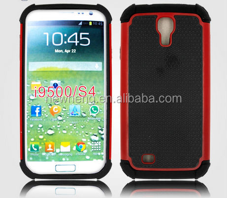New 2 in 1 Football Shock Proof Silicone Case Hard PC Cover for Samsung Galaxy S4 i9500