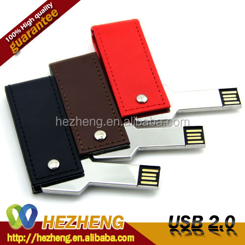 Best Price 16GB Leather USB 2.0 3.0 Key Flash Memory Cards Drive Customized