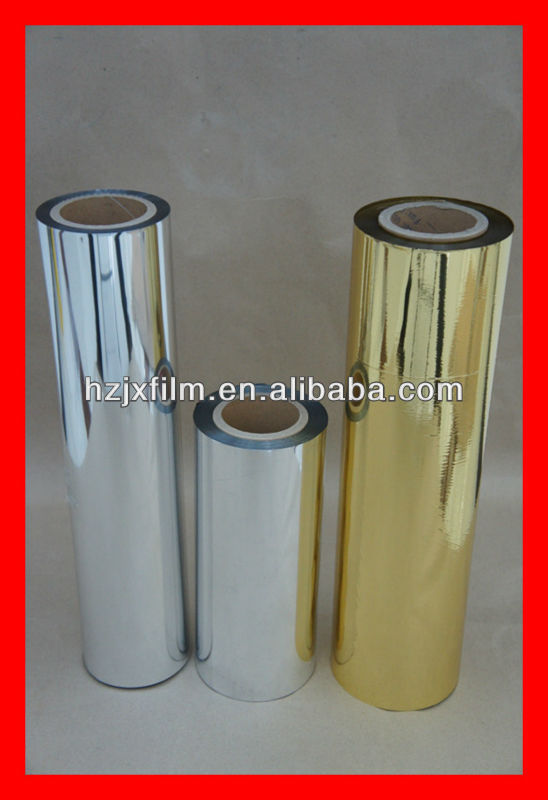 25 microns metallized PET film/ coating PE metallic aluminum film/roof proof material