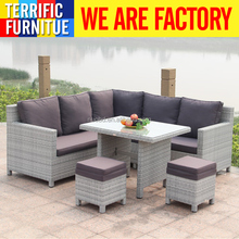 cheap Garden PE rattan sofa sets outdoor wicker sofa patio furniture