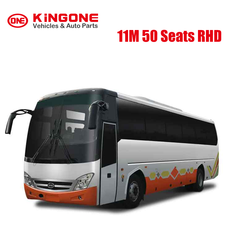 KINGONE RHD Bus 11M 50 Seats Coach Bus Tourist Bus rhd car