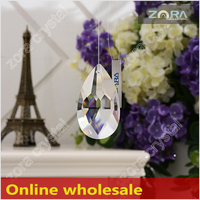 Free sample Machine cut crystal stone for chandelier-76mm Crystal Drops N210