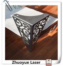 Custom stainless steel table leg fabrication with laser cutting /Sofa leg fabrication