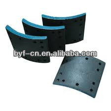 asbestos free rear brake lining for truck 1924410 frasle brake lining