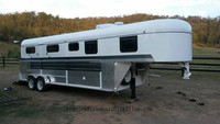 4 horse angle load gooseneck trailers with living quarters,human room