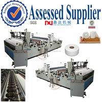 full automatic raw materials for slitting rewinding small bobbin toilet paper making machine