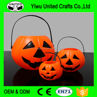 pumpkin candy pails plastic halloween pumpkin buckets candy jar