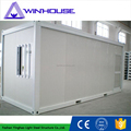 Light steel structure building finished container house sandwich panel 20ft container house