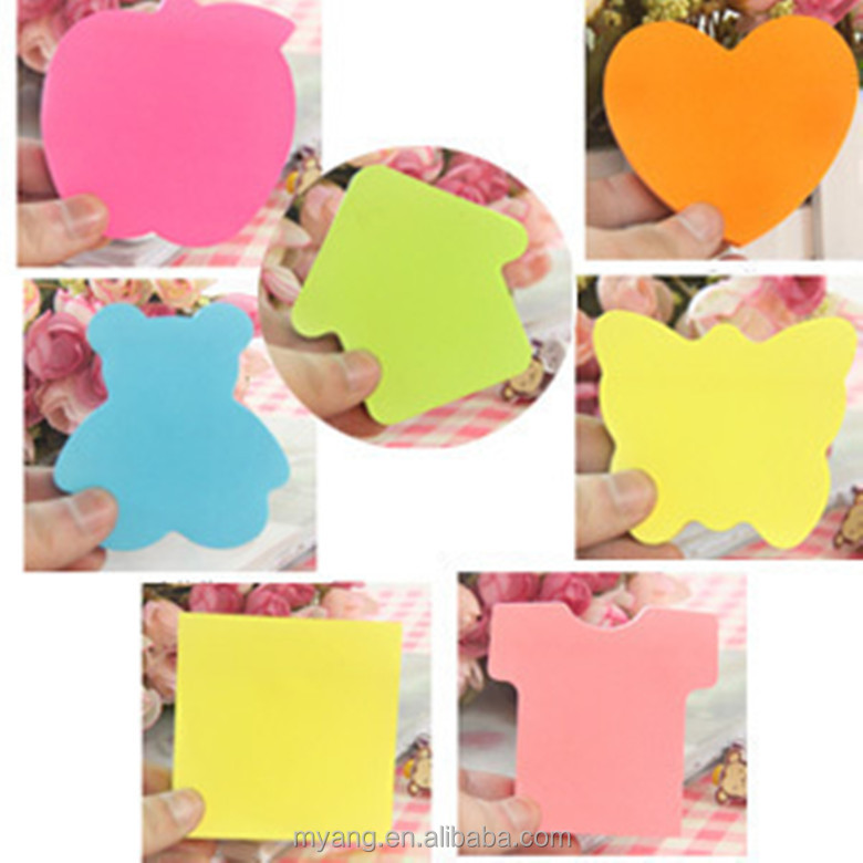Wholesale various kinds of desgin and customized color note pads,oem cake shape memo pad paper cube sticky note pad