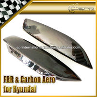 For Hyundai Genesis Coupe 09 Rear Carbon Fiber Side Spat 2PCS