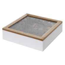 Rectangular wood jewelry display boxes