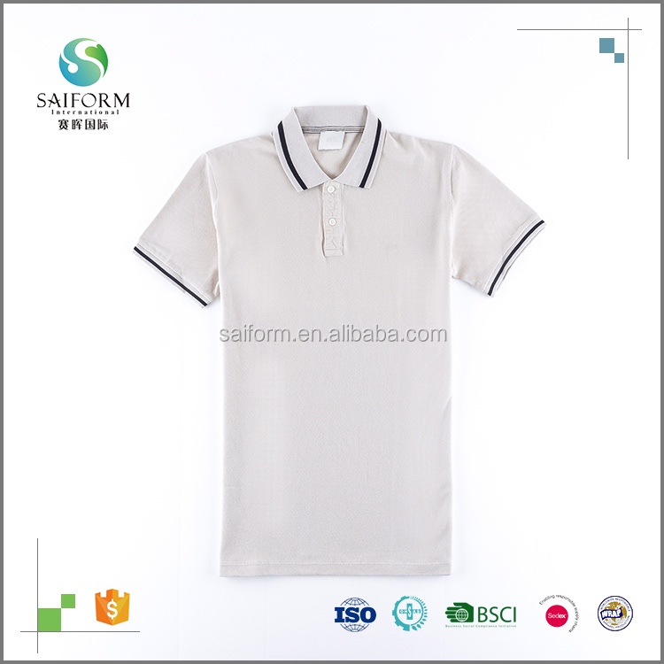 2017 wholesale fashion style blank white polo t shirt for men
