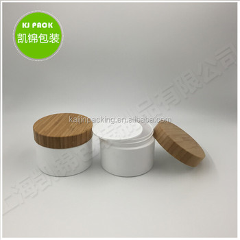 200g 250g bamboo bottle plastic round for face cream