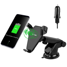 muti-functional air vent adjustable phone holder wireless charger for car vehicle