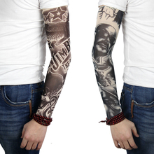 Wholesale Fashion Good Quality Custom Sublimation Knitted Outdoor Cycling Fake Compression UV Tattoo Arm Sleeve