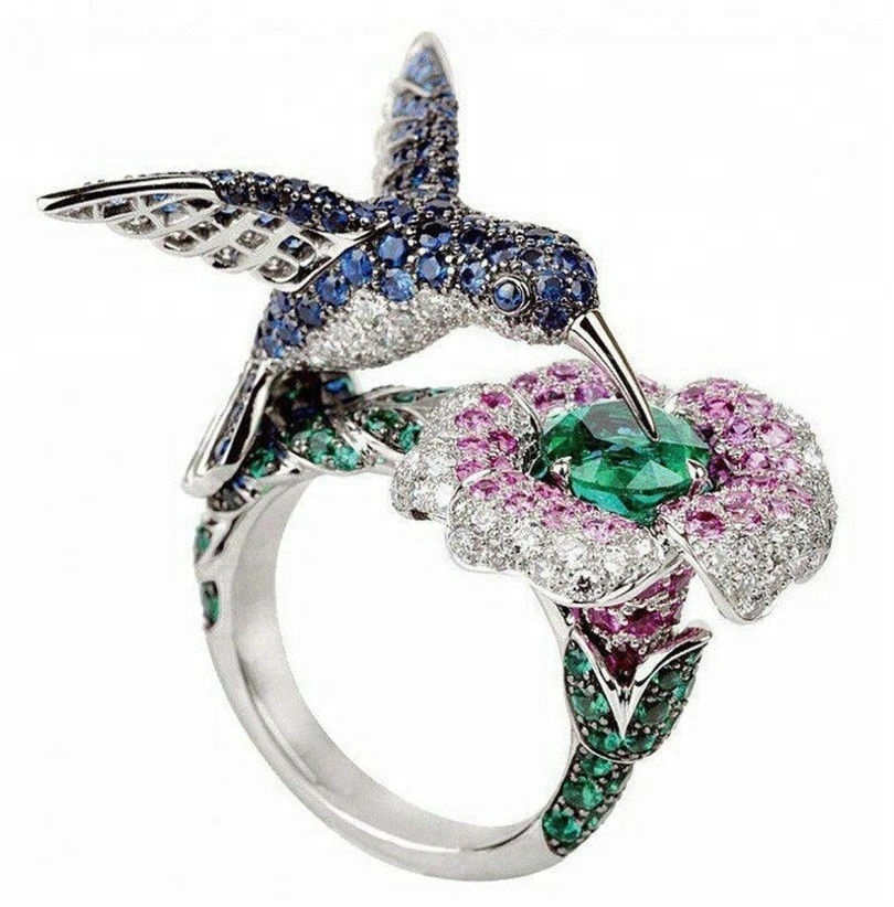 925 sterling silver animal world rings <strong>jewelry</strong>