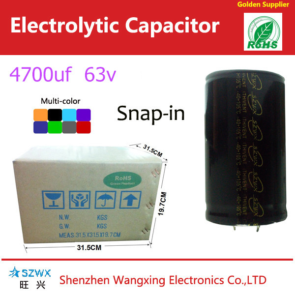 snap in 4700uf 63v for all kind of air conditions