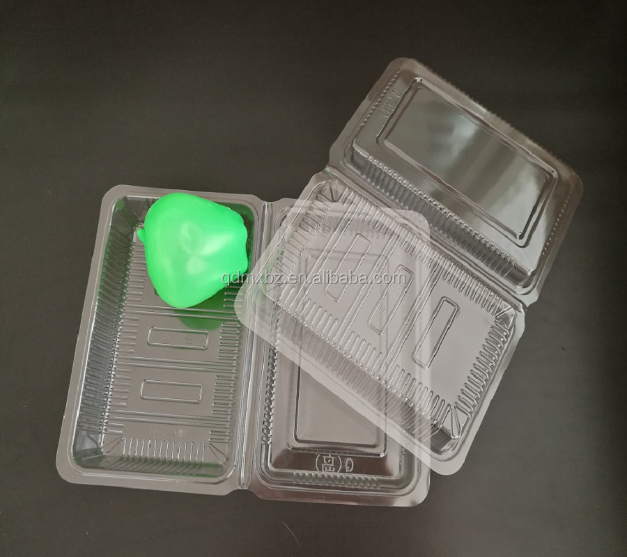 Disposable Clear wholesale blister Clamshell plastic macaron cake packaging tray with lids