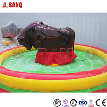 2016 hot sale mechanical red bull machine, bull rodeo simulator , rodeo bull ride game for sale