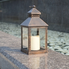 Small Metallic Plastic Vintage Lanterns/Candle holders With Led Candle